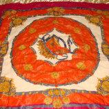 платок Codello оригинал шерсть 112Х118 косынка Италия Hermes Chanel