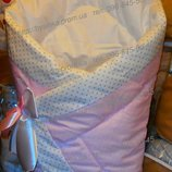 Конверт-Одеяло- плед трансформер на выписку новорожденного 90 90 см зима-осень -весна
