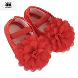 Красивые нарядные пинетки балетки на девочку красные белые розовые