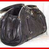 Супер стильная сумка саквояж 100% натуральная кожа