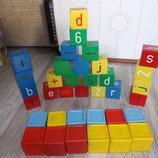 Великий набір деревяних кубиків подарунок