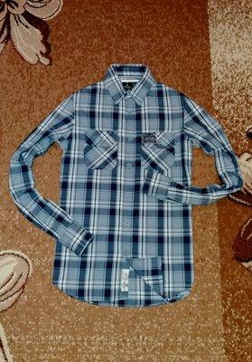 Рубашка в клетку Superdry, размер S, ХS