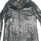 Мужская кожаная куртка-пиджак River Island p.M