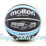 Мяч баскетбольный резиновый Molten GR7D Blue 7 резина, бутил