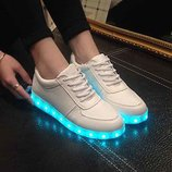 Кроссовки с светящей подошвой, USB-шнур в комплекте, 36, 38р в наличии, 35-46рр, под заказ