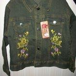 джинсовая курточка на девочку 4-7 лет