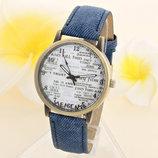 Новинка Оригинальные женские часы Jeans style, синие