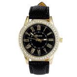 Супер Цена Cтильные женские часы Geneva Cristal Black