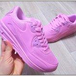 Женские стильные розовые кроссовки Nike Air Max