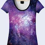 Женская футболка 3D Далекая Галактика Большой выбор