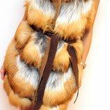 Меховая жилетка Visconf из лисы