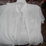 Белая блуза, размер 58 больше похож на 52