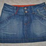 Стильная джинсовая юбка. Разм 36