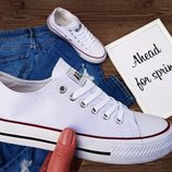 Шикарные синие черные белые женские кеды конверс Converse, стильные