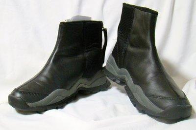 Сапоги мужские демисезонные полусапожки кожаные черные Acupunture размер 40