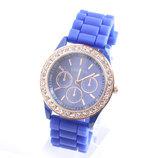 Часы Geneva, с силиконовым ремешком, Crystal