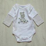 Милейший бодик с длинным рукавом для новорожденного. F&F Baby Boutique . Размер 0-1 месяц