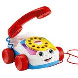 Fisher-Price Веселый телефон каталка на веревочке Brilliant Basics Chatter Telephone 77816