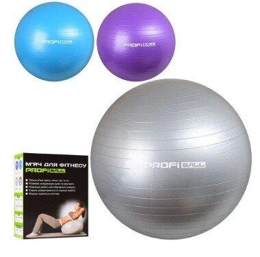 Фитбол 65 см Profi M 0276. Мяч для фитнеса 900г, 4 цвета