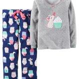 Пижама, размер 2 года, флис, велюр, Carter's, USA.