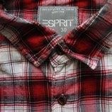 Мужская рубашка в клетку красная сочная цветная Esprit S M