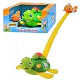 Развивающая музыкальная игрушка-каталка «Черепашка» 0658 NL