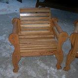 Кресло садовое из массива дуба
