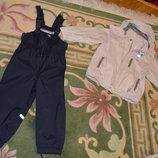 Полукомбинезон Lenne 98 размера и куртка Reima 104 размера. Оригинал.