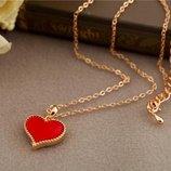 Подвеска кулон красное сердце новое