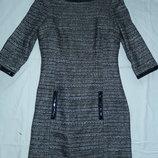 Силуэтное тканое миди-платье,р-р XS,6,по фигуре,сток