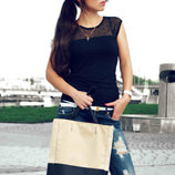 Элегантная женская сумка. Цвет бежевый. 2 модельки