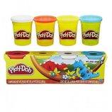 Play-Doh Пластилин в 4-х баночках Дино 4-Ppack of colors dino A9213