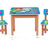 Деревянный столик с двумя стульчиками Фиксики F195