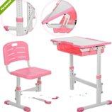 Парта металлическая M 3230-8, со стульчиком, розовая