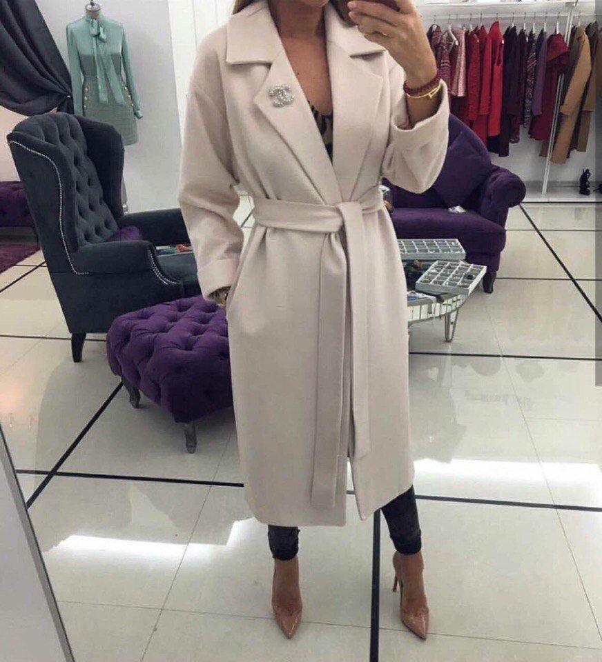купить бежевое кашемировое женское пальто косметики