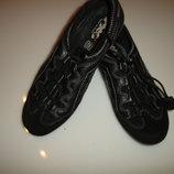 Кожаные спортивные туфли, мокасины Imac, размер 37 стелька 23,5 см сделаны в Италии, 2 вида кожи