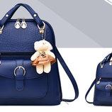 Элитные рюкзаки в узор Candy Bear с брелком В Наличии