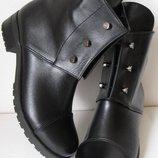 be23d7141 Стильные Hermes болты ботинки женские демисезонные сапоги Гермес кожа
