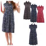 Платье плотное итальянского бренда Conbipel синее, коричневое, красное