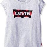 милая хлопковая футболка Levis на девочку подростка на 5- 6 лет