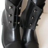 b12096816 Стильные Hermes болты ботинки кожаные женские демисезонные сапоги Эрмес