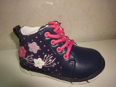 448ee0293 Демисезонные ботинки 21,22 р. Clibee на девочку, осенние, весенние, би