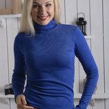 Женская водолазка утепленная, гольф теплый разные цвета