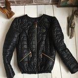 М пуховик дутик куртка чёрная красивая стильная лёгкая тёплая