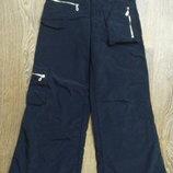 Болоньевые штаны на флисе, р.140-150 см.замеры