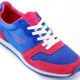Кроссовки синие с красным унисекс тм Restime