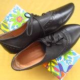 Кожаные легусенькие мягкие туфли мокасины,р.39