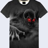 Потрясающая футболка 3D Жуткий череп