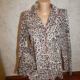 пижама флисова мягкая, тёплая рубашка кофта р10-12