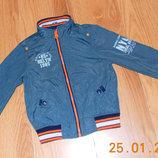 Фирменная куртка-ветровка для мальчика 3-4 года 98-104 см